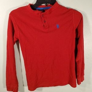 US Polo Assn Boys Theemal Shirt Red Size 10/12